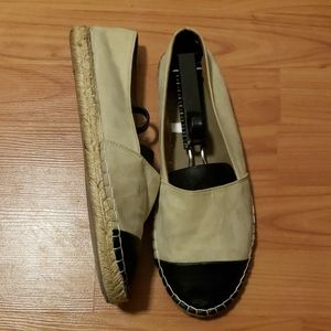 Faux suede & leather espadrilles